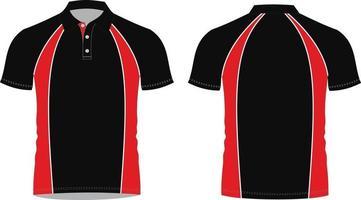 maquetes de camisa polo com design personalizado vetor
