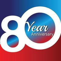 Ilustração de design de modelo de vetor de logotipo de aniversário de 80 anos