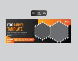 design de modelo de banner da web de alimentos vetor