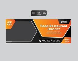 modelo de design de banner de restaurante fast food vetor