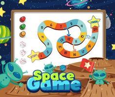 modelo de jogo de tabuleiro de escada de cobra para crianças vetor