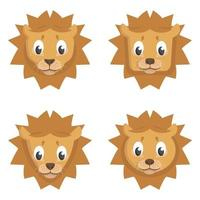conjunto de leões dos desenhos animados.