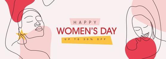 modelo de cartão de saudação do dia internacional da mulher. vetor