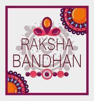 desenho de pôster raksha bandhan feliz vetor