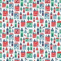 padrão de cor sem costura de cidade antiga com edifícios antigos para papel de parede ou design de plano de fundo em branco.
