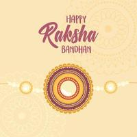 raksha bandhan, celebração tradicional indiana com pulseira vetor