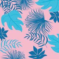 fundo de folhas tropicais de verão vetor