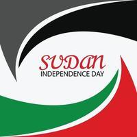 ilustração em vetor de um plano de fundo para o dia da independência do Sudão.