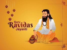 ilustração vetorial de guru ravidas jayanti vetor