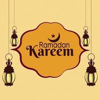 cartão islâmico plano fundo ramadan kareem vetor