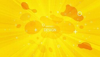 fundo da arte pop. fundo retro pontilhado. ilustração vetorial. meio-tom amarelo pop art vetor