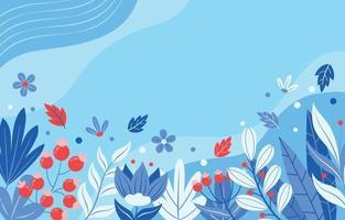 fundo floral design plano vetor