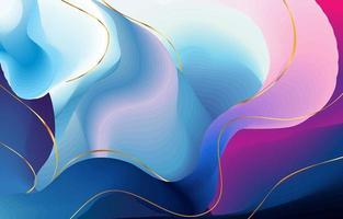 fundo de onda abstrato colorido vetor