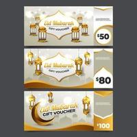 voucher de oferta eid mubarak vetor