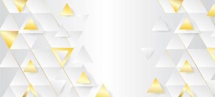 fundo de luxo triângulo branco vetor