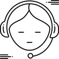 ícone de linha para suporte ao cliente vetor
