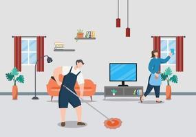 conceito de serviço de limpeza vetor