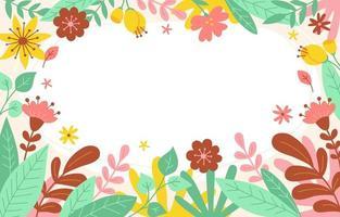fundo colorido da borda da flor da primavera vetor