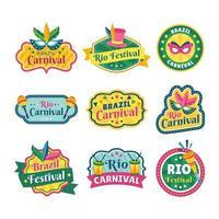 etiqueta festa carnaval rio vetor
