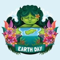 conceito do feliz dia da mãe terra vetor