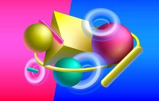 Fundo geométrico 3D vetor