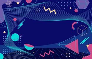 geométrico abstrato com fundo azul vetor