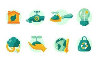 conjunto de ícones do dia da terra vetor