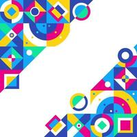 fundo de decoração de formas geométricas abstratas vetor