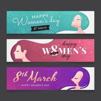 banner do dia internacional da mulher vetor