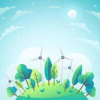 fundo do conceito de ecologia e energia verde vetor