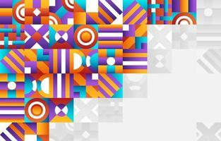 fundo quadrado circular gradiente colorido abstrato vetor