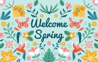boas-vindas do fundo do ornamento da primavera