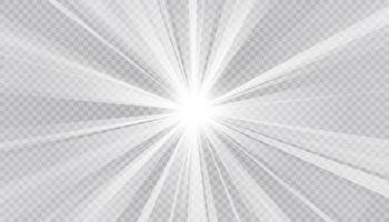 abstrato de raio brilhante e fundo claro. vetor e ilustração.