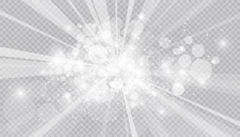 efeito de luz brilhante com fundo isolado de muitas partículas de brilho. nuvem estrelada de vetor com poeira. decoração mágica de natal