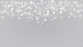 neve branca voa fundo. flocos de neve de natal. ilustração de fundo de nevasca de inverno. vetor