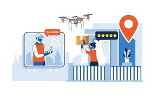 conceito de pacote de entrega de tecnologia intacta vetor