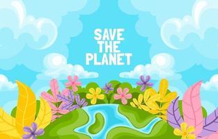 salve o fundo do planeta vetor