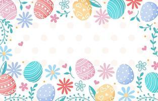 fundo de ovos de páscoa desenhado à mão vetor