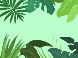 fundo de planta tropical exótica vetor