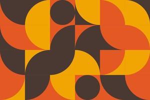 pôster de arte de geometria simples com formas e figuras simples. projeto de padrão de vetor abstrato em estilo escandinavo para web, apresentação de negócios, pacote de branding, impressão em tecido, papel de parede