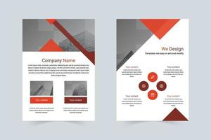flyer a4 da empresa de negócios