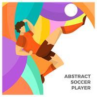 Vetor de jogador de futebol plana abstrata