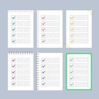 plano para fazer coleção de lista de verificação vetor