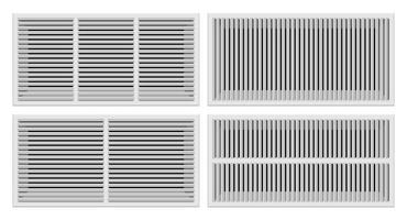 Ilustração vetorial: grades de ventilação de banheiro vetor