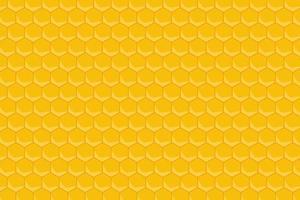 fundo de padrão de favo de mel amarelo vetor