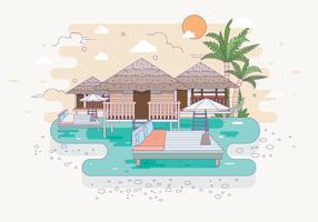 Vetor de ilustração de estância de praia