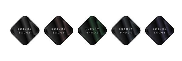 emblema do logotipo de luxo. texto editável e adequado para certificado, rótulo, logotipo, ícone, símbolo de um produto ou marca. modelo de ilustração vetorial. vetor