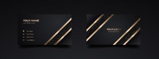 design de modelo de impressão de cartão de visita de luxo moderno. inspiração do abstrato. cartão de contato da empresa. design dourado frente e verso. ilustração vetorial vetor
