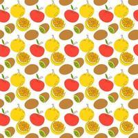 costura padrão com frutas do elemento. padrão sem emenda com ilustração vetorial de laranja e kiwi, vetor