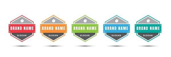 ícone do logotipo do emblema para certificado, produto, online, comida, culinária, loja, etc. Modelo de design de ilustração vetorial. vetor